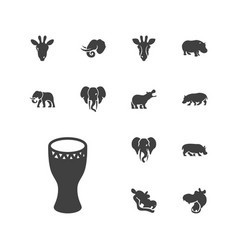 13 african icons vector