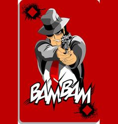 Ace in black hat vector