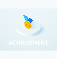 achievement isometric icon isolated on color vector image