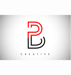 B red black letter modern trendy design logo vector