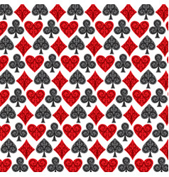background pattern with playing card symbols vector image