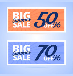 Big Summer Sale cards vector image