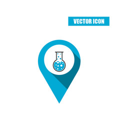 boiling chemistry flask and test tube icon vector image