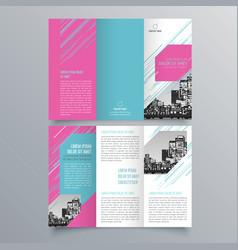 brochure design 877 vector image
