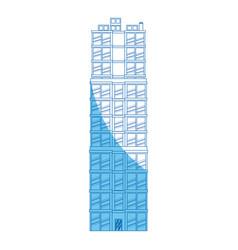 building real estate apartment blue line vector image