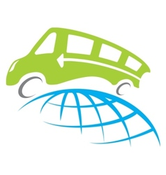 Bus travel vector image