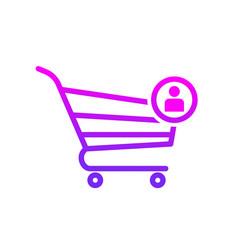 buy cart shop store user icon vector image