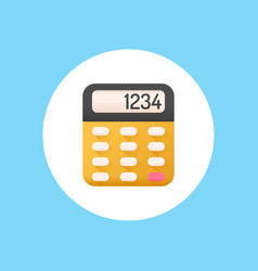 calculator icon sign symbol vector image