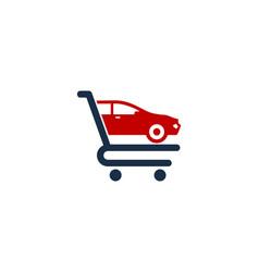 Car shopping logo icon design vector