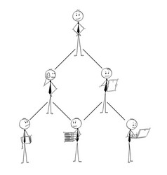 cartoon of business organization team hierarchy vector image