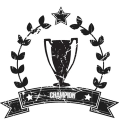 champion vector image