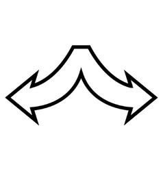 Choice Arrows Left Right Outline Icon vector image