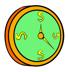 Clock icon cartoon vector