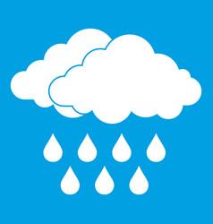 Cloud icon white vector