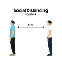 concept social distancing in flat design vector image