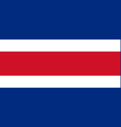 Costa rica civil flag in official rate vector