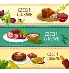 Czech cuisine restaurant menu banners design vector
