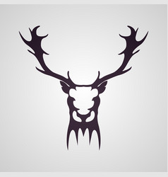 deer head tattoo logo icon design vector image