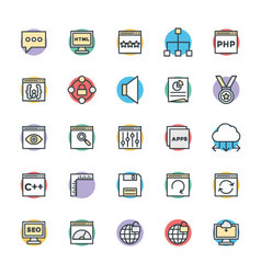 Design and Development Cool Icons 3 vector image