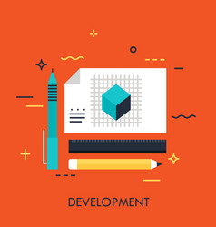 development concept vector image