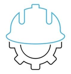 Development Helmet Outline Icon vector