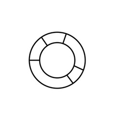 donut chart icon vector image