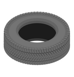 Drive tyre icon isometric style vector