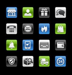 E-shopping glossy buttons gelbox series vector