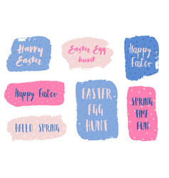 Easter banners collection vector
