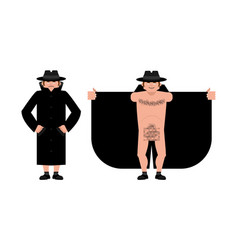 exhibitionist open coat isolated publicly expose vector image