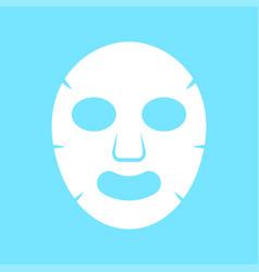 Facial mask flat icon medicine vector