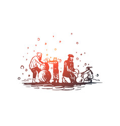 Family togetherness winter christmas happiness vector