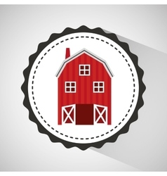 Farm countryside house home farmhouse design vector