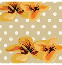 Flowers retro vector