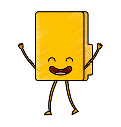 Folder document kawaii character vector