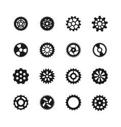 Gear icons transmission with cogwheel vector