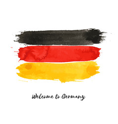 Germany watercolor national country flag icon vector