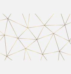 Golden geometric background vector