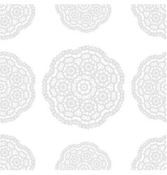 gray and white fantasy seamless pattern with vector image