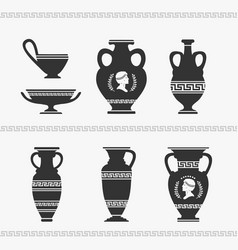 Greek vase set vector