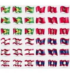 Guyana Isle of man French Polynesia Laos Set of 36 vector