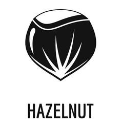 hazelnut icon simple style vector image