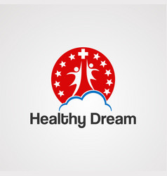 healthy dream logo icon element and template for vector image