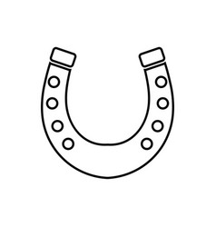 horseshoe black color icon vector image