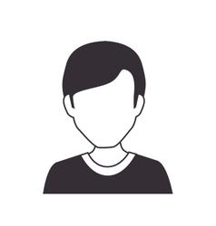 human avatar man isolated icon vector image