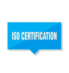 Iso certification price tag vector