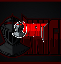 knight logo template high resolution image vector image