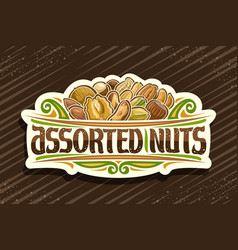 Logo for assorted nuts vector