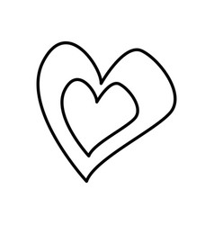 love heart romantic feeling symbol vector image vector image