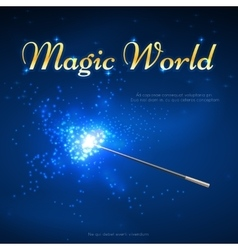 Magic wand mystery background vector